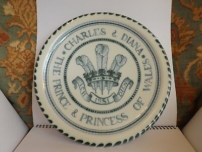 Rye Pottery, a Royal Commemorative for the Prince & Princess of Wales, 1981.