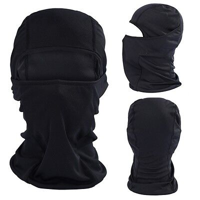 Outdoor Motorcycle Full Face Mask Balaclava Ski Neck Protection Black