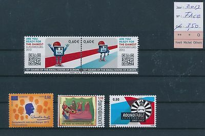 LH09518 Luxembourg 2013 nice lot of stamps MNH face value 3,5 EUR