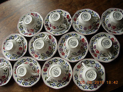 Adams Old Colonial 12 tea cups and saucers in almost mint condition