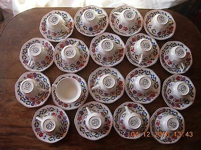 Adams Old Colonial 18 tea cups and saucers in good condition