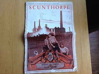 1936 Scunthorpe Receives It's Charter Original Newspaper Steelworks