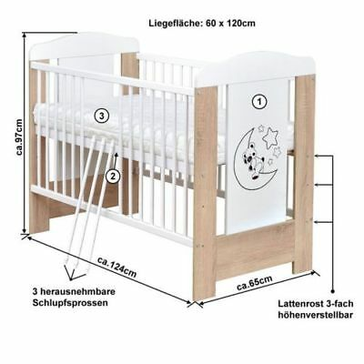 babyzimmer babybett kinderbett mond teddy wickelkommode bettset komplett eur 99 00 picclick de. Black Bedroom Furniture Sets. Home Design Ideas