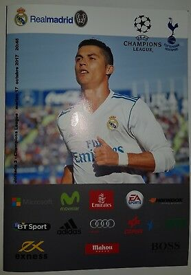 CHAMPIONS LEAGUE ~ REAL MADRID v TOTTENHAM ~ 17/10/2017 UNOFFICIAL PROGRAMME