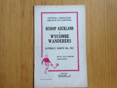 1955 Bishop Auckland v Wycombe Wanderers Amateur Cup Semi-Final