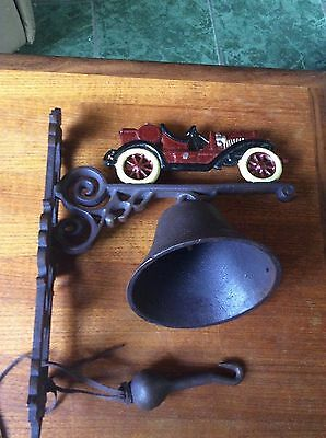 Large Cast Iron Door Bell.old.rustic.vintage Motor Car