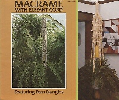 """Vintage 1977 Macrame Pattern Book """"macrame With Elefant Cord"""" 9 Projects"""