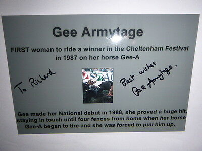 Signed By The Jockey Gee Armytage First Woman To Win Race At Cheltenham