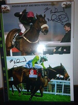 2 Personally Signed Photos  Of  Mick Fitzgerald Winning The Grand National
