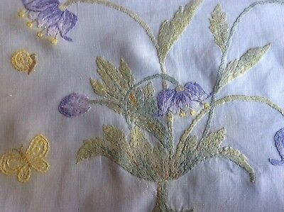 Antique Hand Embroidered Bedspread-Tablecloth-Curtain