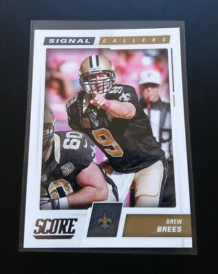 Drew Brees Saints Signal Callers #26 Panini Score 2017 NFL Football Card