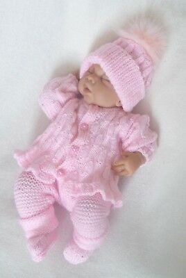"Hand Knitted outfit for 18""-20"" Reborn, Ashton Drake etc"