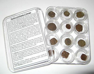 Ancient coin collection 12 Medieval Islamic Fals Umayyad Abbasid w silver dirham
