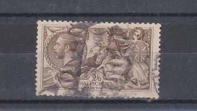 Great Britain GB 1913 KGV 2/6 Stamp Used Hinged No Gum (#1743)