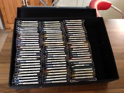 Case of mini disks. approximately 70 disks all various artists