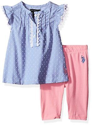 Childrens Apparel Y1KV55PPV US Polo Assn Baby Girls 2 Piece U.S
