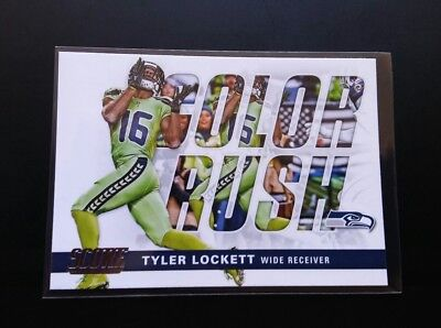 Tyler Lockett Seahawks Color Rush #17 Panini Score 2017 NFL Football Card
