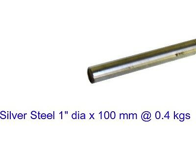 "Silver Steel  1"" dia x 100 mm ( Oil ) -Tools-Lengths-Lathe-Mill-Steam"