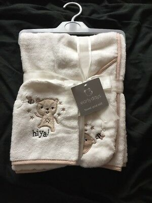 Baby Hooded Towel With Mitt