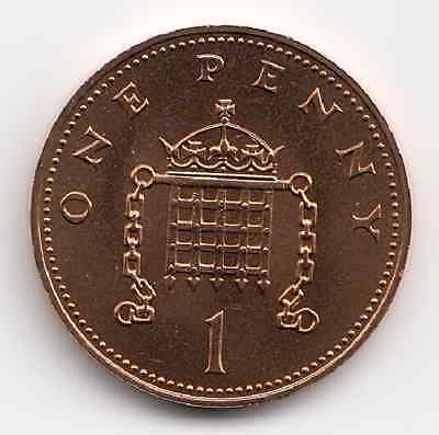 1984 One Penny Proof UNC 1p Extremely Nice coin Hard to Get  Have a Look