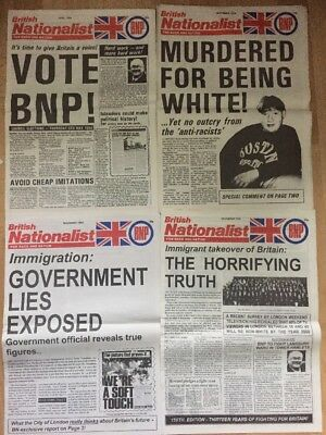 4 British Nationalist BNP Newspapers 1994 British National Party National Front
