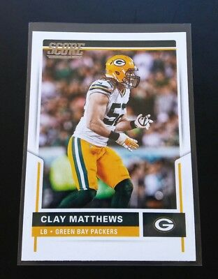 Clay Matthews Packers #258 Panini Score 2017 NFL Football Card