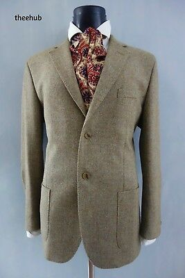 Luxurious Geek Tweed S/B D/V Sports Country Blazer Arm Patches GANT & Jacket Bag