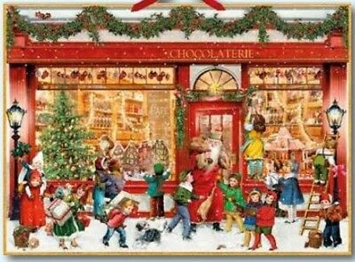 Victoriana CHRISTMAS CHOCOLATE SHOP ADVENT CALENDAR CARD Coppenrath Germany