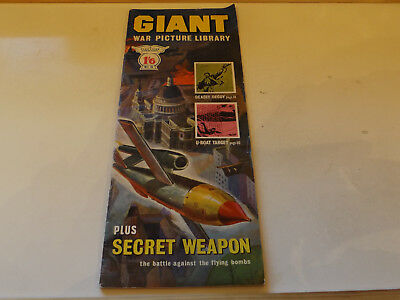 GIANT WAR PICTURE LIBRARY,NO 05,1964 ISSUE,SUPER FOR AGE,53 yrs old,RARE COMIC.