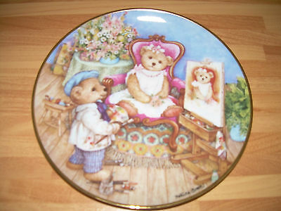 Franklin Mint TEDDY BEAR Plate - PRETTY AS A PICTURE