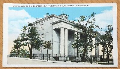 Richmond Virginia Confederate White House Postcard