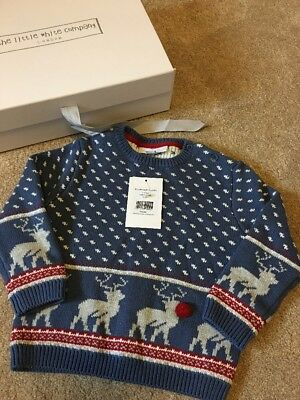 Little White Company Christmas Jumper 12-18 Months