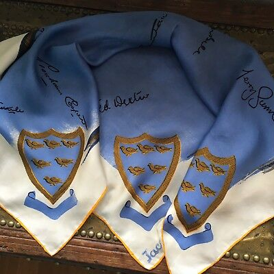 Rare Vintage JACQMAR 1960s SUSSEX Cricket Team Signatures Ted Dexter Etc Scarf