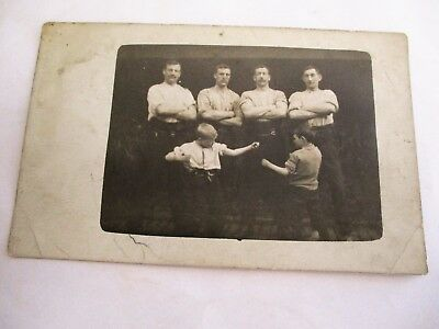 Boxing ? Group Photograph - Old Sporting Postcard