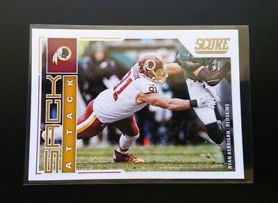 Ryan Kerrigan Redskins Sack Attack #13 Panini Score 2017 NFL Football Card