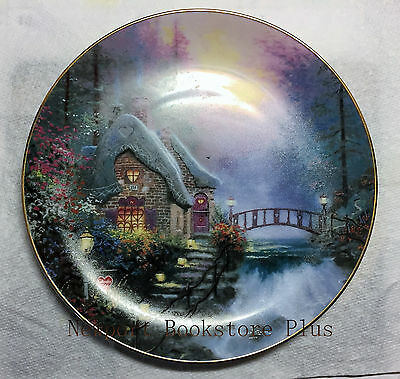 THOMAS KINKADE Collectible Plate FALBROOKE COTTAGE -FIRST ISSUE