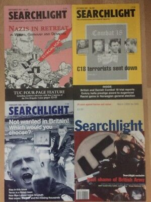 4 X Searchlight Anti Fascist Anti British National Party BNP NF National Front