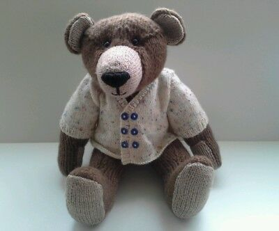 Gorgeous George hand  knitted teddy