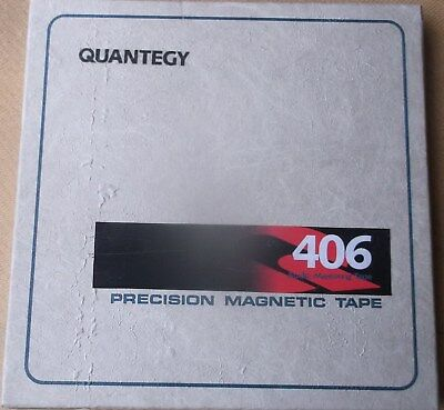 """10½  REEL ( ¼"""") NEW  QUANTEGY 406 TAPE ON USED NAB REEL AND BOX for Revox Teac"""