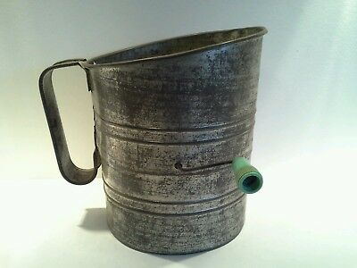 Early Century Willow Australia Pressed Metal Flour Grinder/ Sieve