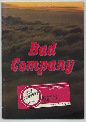 Bad Company - Rock Explosion '75 JAPAN PROGRAM with TICKET STUB March 3 1975