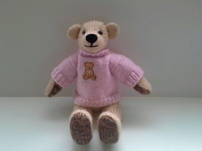 Gorgeous Clare hand  knitted teddy