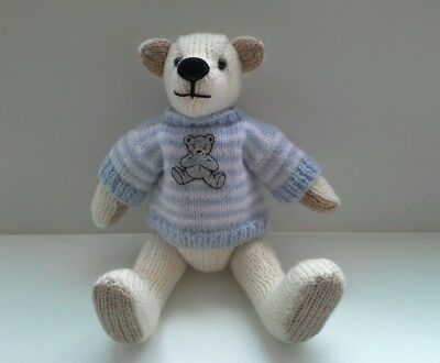 Gorgeous  Peter hand  knitted teddy