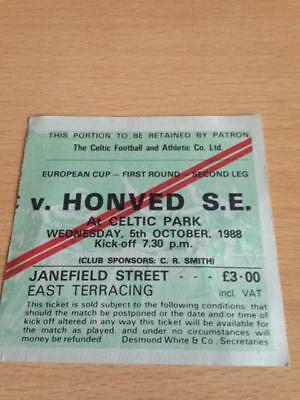 1988/89 Celtic V Honved - European Cup - Used Ticket