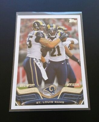 Rams Team Card NFC West Bradford #191 Topps 2013 NFL Football