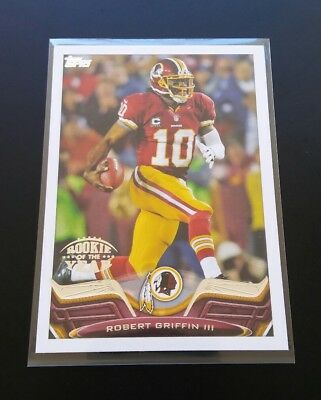 Robert Griffin lll Redskins Rookie Of The Year #338 Topps 2013 NFL Football