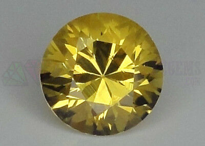 Ceylon Yellow Sapphire VS 7mm Round 1.77ct Loose Natural Gemstone Sri Lanka