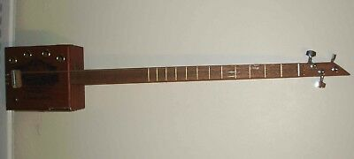 Cbg, Cigar Box Guitar, New, Electro/acoustic, 3 String, Texas Licence Plate, 42