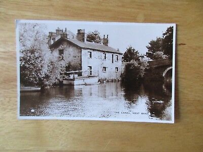 vintage postcard * The Canal, Hest Bank, Lancashire * posted 1950s