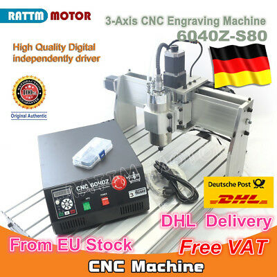 【DE Stock】 3 Axis 1500W 6040 CNC Router Engraver Engraving Milling Machine 220V